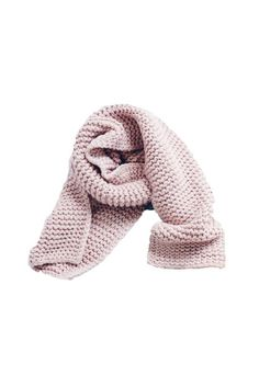 'Bella' Blush Pink Wide Ribbed Scarf