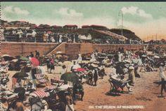 Humewood, Port Elizabeth, South Africa, On Beach, old unused coloured postcard