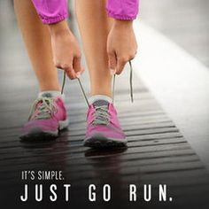 It's simple...just lace up your shoes #run
