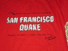 1989 SAN FRANCISCO QUAKE vintage t shirt red medium #Oneita #GraphicTee