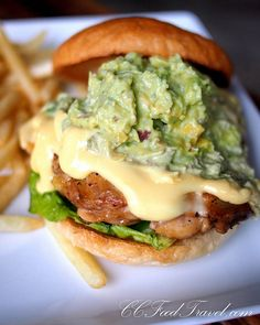 More Food Porn - The Avocado Chicken Cheese Burger