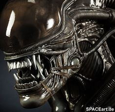 """Sideshow Collectibles will release two Xenomorph busts this year. Both the Big Chap and the Alien Warrior will be in """"Legendary Scale"""", the toy maker's Alien Vs Predator, Hr Giger Alien, Hr Giger Art, Alien Film, Alien Art, Xenomorph, Wall E, Aliens, Alien Tattoo"""