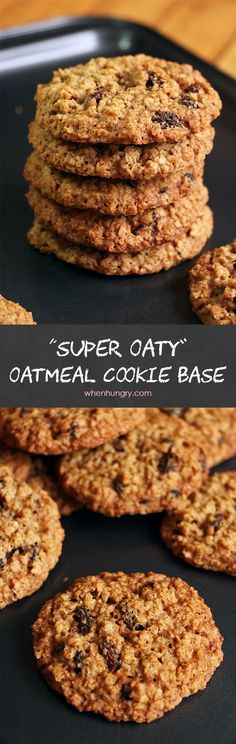 "My ""Oaty-licious"" Oatmeal Cookie Base"