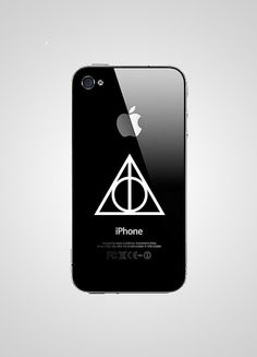 Deathly Hallows Symbol - for iPhone Decal - So getting this when i upgrade my iphone