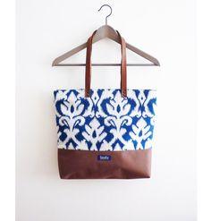 Large canvas tote bag shopping bag casual tote from Imola by noemiimola by DaWanda.com