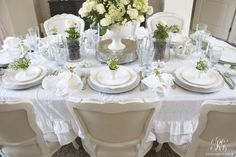 Romantic Easter tablescape by Randi Garrett Design