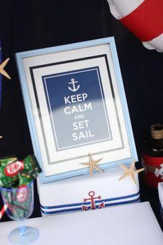 Wedding Venue Kara's Party Ideas Nautical Party Planning Ideas Supplies Cake Idea Boat Sailor Navy W Cruise Theme Parties, Cruise Ship Party, Fun Party Themes, 4th Birthday Parties, Party Ideas, Fourth Birthday, Sailing Party, Yacht Party, Navy Party