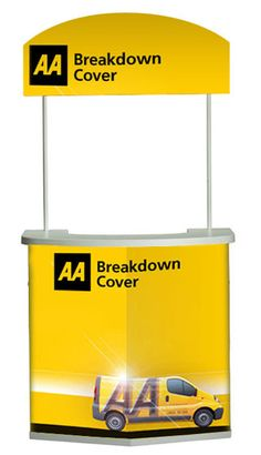 AA Supermarket Demo Counter Show Booth, Outdoor Banners, Counter, Vectors, Display, Billboard