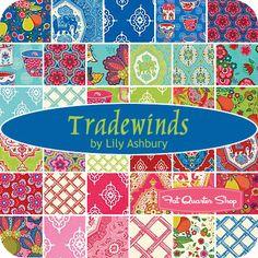 Tradewinds Fat Quarter Bundle Lily Ashbury for Moda Fabrics - Fat Quarter Shop