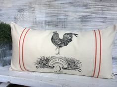 French style Farm Pillow. Rooster Pillow. https://www.etsy.com/listing/487060471/french-farm-inspired-pillow-farm-life?ref=shop_home_active_1