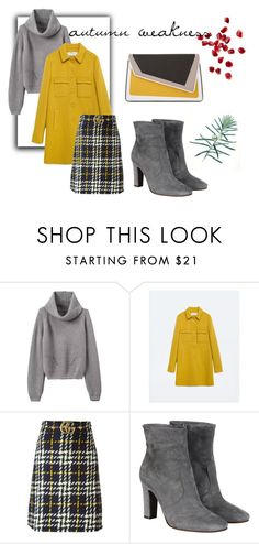 """autumn"" by lyananas on Polyvore featuring мода, Zara, Gucci, L'Autre Chose и âme moi"