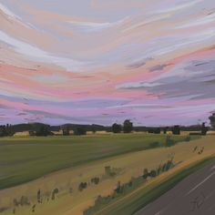 'Bush fire Sky' - Digital painting study by Fiona Verdouw Sky Digital, Landscape Illustration, Holiday Photos, Say Hi, Dusk, Study, Marvel, Fire, Concept