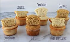 The science of baking cupcakes- This type of thing is still fascinating to me! Someone used scientific principles and experimented on a basic yellow cupcake recipe by altering one ingredient to see the results.
