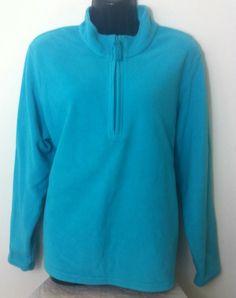 New - Womens M&S Aqua Blue Zip Up Fleece Jumper Size 20 - £10.00