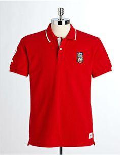 OLYMPIC COLLECTION Men's Pique Polo Cotton Shirt