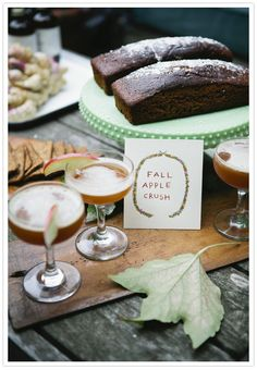 I specifically like the syrups in this post. Going to have to make my own!  Fall cocktail party inspiration