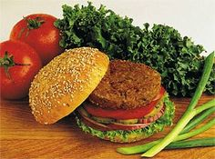 Veggie burgers are great especially with 100% whole grain bread.