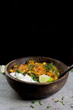 Vegan Sweet Potato, Chickpea & Spinach Coconut Curry | The Vegan 8