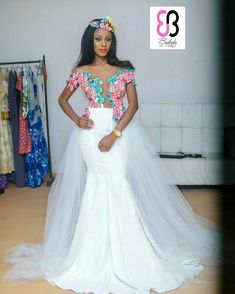 6 Beautiful Wedding Dress Trends in 2020 Traditional Gowns, African Traditional Dresses, Traditional Wedding Dresses, Bridal Skirts, Bridal Gowns, Wedding Gowns, Bridal Hijab, Hijab Bride, Wedding Hijab