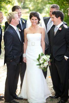 Bride with Groomsmen :: Debra O Photography