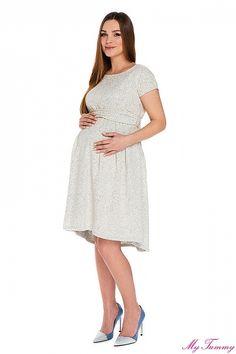 """Těhotenské šaty """"Scarlett"""" žakárové - My Tummy - Luxusní, elegantní a praktické oblečení pro těhotné a kojící ženy"""
