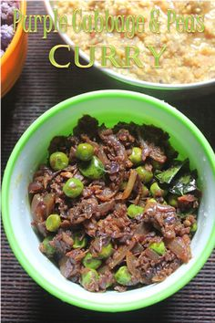 YUMMY TUMMY: Purple Cabbage & Peas Stir Fry Recipe