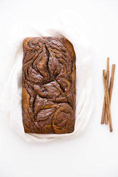 Тыквенный хлеб с нутеллой