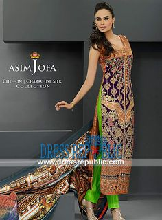 Asim Jofa Charmeuse Silk Chiffon Collection Eid 2014  Buy Online Asim Jofa Charmeuse Silk Chiffon Collection Eid 2014 in United States (in Retail and Wholesale). Dressrepublic is One of the Largest Overstock Supplier and Distributor of Pakistani Lawn Suits at Highly Affordable Prices. by www.dressrepublic.com