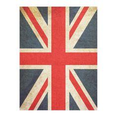 Vintage Union Jack British Flag Fleece Blanket