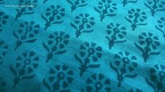 This blue Indian block print fabric is simply amazing! It is a pure soft cotton fabric with floral block print design all throughout the fabric. The