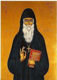 St Arsenios the Cappadocian Greek Orthodox Icon Greek Icons, Illumination Art, Byzantine Icons, Art Icon, Orthodox Icons, Roman Catholic, Saints, Disney Characters, Fictional Characters
