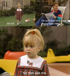 Ashley Olsen as Michelle Tanner & Dave Coulier as Joey Gladstone on Full house