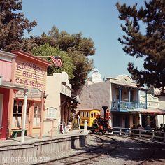 Mine Train Through Nature's Wonderland before Thunder Mountain, Disneyland, 1969