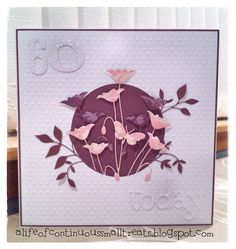 I made this card for a fellow crafter, so the pressure was on!  I used my favourite Memory Box Prim Poppy die with some lovely but very old...