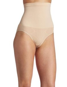 Dr. Rey Shapewear Womens Seamless Mid Waist Brief, Nude, Large  #shapewear