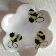 Three Bees ring dish Bee Ring, Ring Dish, Beatrix Potter, Tasmania, Bees, Wander, Third, Artisan, Ceramics