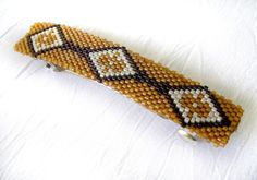 Native American Seed Bead Patterns | Home / Other Beadwork / Native American Beaded Brown and Cream ...