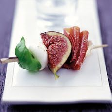 Marinated Figs With Prosciutto, Mozzarella & Basil - No fresh figs available so made with dried figs - try also with fresh