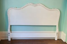 Vintage French Full Size Headboard White by VintageChicFurniture, $495.00