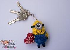 Gehaakte Despicable Me Minion valentijn door CaitsCrochetedDolls