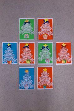 fotka a práce paní Káč Nawratovitzová z fb skupiny Náměty a inspirace pro paní učitelky a pány učitele Advent, Christmas Cards, Type 1, Crafts, Trees, Facebook, First Grade, Christmas E Cards, Manualidades