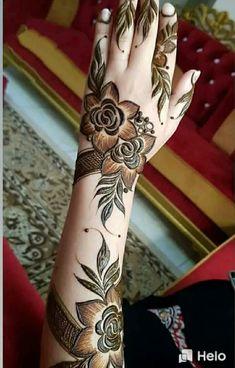 Henna Flower Designs, Henna Tattoo Designs Simple, Back Hand Mehndi Designs, Mehndi Designs Book, Modern Mehndi Designs, Mehndi Designs For Beginners, Mehndi Designs For Girls, Latest Henna Designs, Wedding Mehndi Designs
