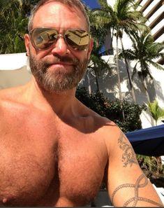 "justjimbo: "" Stud muffin Jim's sexy poolside selfie """