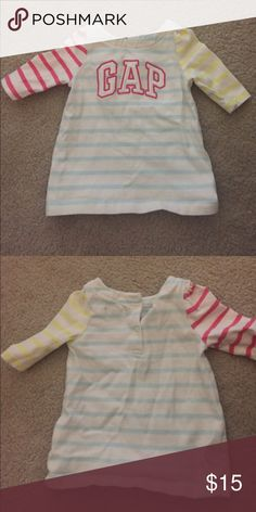 Like new baby Gap top / tee / tunic Only worn once for a few hours, perfect condition. Washed with baby detergent. Pet free smoke free home. Check out my closet for more baby gap items ;) GAP Shirts & Tops Tees - Long Sleeve
