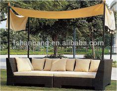 Toscana rattan outdoor marrón tejido de mimbre de jardín modular furniture diván conjunto