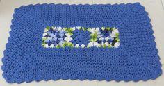 Crochet blue rug ♥️LCR-MRS♥️ with diagram.