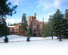 Glen Eyrie--I've never seen it with snow like this but went to summer camp here when I was a youth.  I'd love to stay in the castle sometime soon
