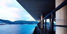 Díaz y Díaz. Architecture - milestone - landscape integration - sea - port - metal - lattice - view - vision. Building of control CCS of the outer harbour. Ferrol. Galicia