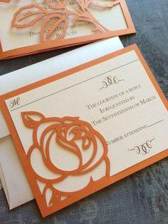 Láser corte invitaciones de boda invitaciones de por CelineDesigns