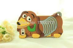 Silicone, 3d bonito dos desenhos animados caso capa para o iPhone 4 4S 3D Tigger Marie / Alice Cat monstros Sulley Slinky Dog casos de telefone celular